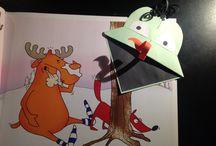 My work / Bookmark - frog, art equipment etc.