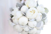 White flower bouquets