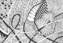zentangle / Small works on paper.