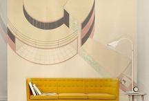 wall decor :: acoustic panels :: clock :: world map