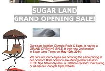 Olympic Pools and Spas / Information on New Location in Sugar Land for Olympic Pools and Spas