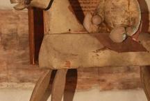 Old wooden rocking horses / by Barbara Schwartz