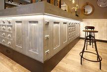 Barras para Bares, Restaurantes y Cafeterías / Realizamos barras para cafeterías, restautantes y bares con distintos materiales.