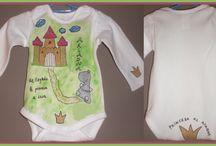 Bodys bebé pintados a mano / Bodys para bebés pintados a mano, manga larga, corta, o tirantes. www.talentox2.es www.facebook.com/talentopor2