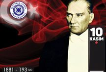 "Turkey is commemorating 78th anniversary of Mustafa Kemal Atatürk's passing / Turkish Republic's founder Mustafa Kemal Atatürk is commemorated today on the 78th anniversary of death ""To see me does not necessarily mean to see my face. To understand my thoughts is to have seen me.""  ― Mustafa Kemal Atatürk"