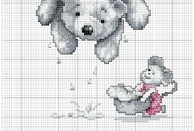 Cross stitch - teddy bears
