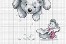 Cross stitch - teddy bears
