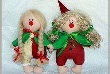Куклы-гномтки,клоуны и т.д