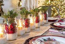 barattoli natalizi / barattoli con candele o parsaggi natalizi