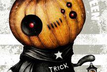 Halloween Decorations / Halloween decorations and food