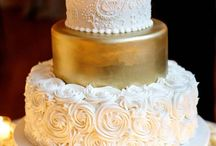 Wedding: Cake White/Gold/Black