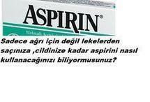 Aspirin kullanımı