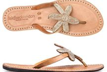 Laidback London Leather Beaded Sandals & Bags