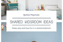 Shared Kidsroom ByAlex Playmats / The best shared bedroom ideas, including a sneack peak in my boys shared bedroom