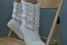 bílé vysoké botky