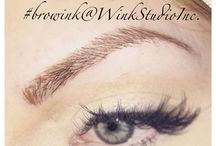 Micro-brow Ink / Permanent cosmetic make-up #microbrow Ink #microblading #browembroidery