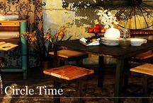 Kolekcja CIRCLE TIME ze strony www.gdel.pl / Czy marzyliście kiedyś o podróży wehikułem czasu?  Kolekcja Circle Time to unikalne przedmioty  łączące w sobie recycling i nowoczesny design.  Meble i dodatki z tej serii nadadzą charakteru każdemu pomieszczeniu  – w takiej scenerii ozdobionej odrobiną słońca  poranna kawa smakować będzie niepowtarzalnie…