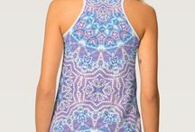 TANK TOPS (Women) / All over print -  front and back of the tank top for women. Textile design and patterns by Webgrrl |  #fashion #streetwear #urban
