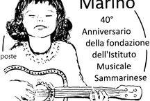 Cod. 624 - 40° anniversario dell'Istituto Musicale Sammarinese / Emissione filatelica 23 ottobre 2015 - Valore da €3.30 - Fogli da 20 - Tiratura 40.000