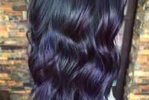 black hair balayage
