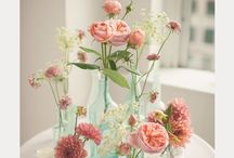 Bottle flower arrangements