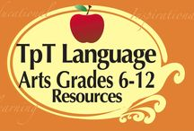 TpT Grades 6-12 Language Arts / Teachers pay Teachers Grades 6-12 Language Arts Resources!  Excellent products for educators, teachers, & homeschool all found at www.TeachersPayTeachers.com.  Excellent products for educators, teachers, & homeschoolers! This is a COLLABORATIVE board.  If you wish to join please email me at mooreeducresources@yahoo.com.