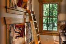 Mountain retreats with trim / Some of our favorite cabins and chalets with beautiful moulding.