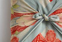 Cuore per furoshiki / l'arte di fare i pacchetti con il tessuto