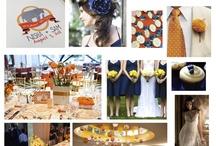 Orange & Blue Wedding