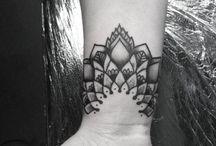 Mandala wrist tattoos