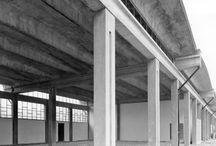 STABILIMENTO FRANCHI, AUTORIMESSA / Borgosesia (NO) – 1965 Architettura: Aldo Favini Strutture: Aldo Favini