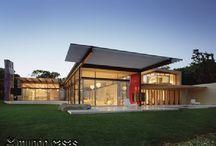 Moderne hus og fasader.