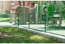 Chain Link Fences / Chain link fencing is preferable for fencing large areas and acts as a temporary barrier at construction or event sites. It is also the top choice of home and business owners to secure their property.