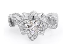 Floral DIamond jewelry / Flower Ring, Flower Earrings, Flower Pendant. / by Kobelli.com
