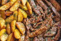 Garlic Butter Steak Dan Potato Skillet