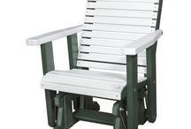 Outdoor Furniture / Beautiful unique designed outdoor furniture. Enjoy wonderful days outside sitting in the gliders, chairs, tables, swings and much more.