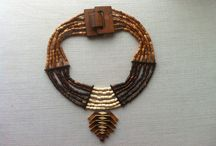 wooden necklace / handmade wooden necklaces