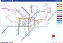 Cardiff Underground / Our Cardiff Underground fantasy map became a bit of an internet hit and has captured the city's imagination. Published on the Guardian website and in the Echo, please mind the 'Diff!
