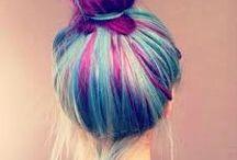 dyed hair •blue•