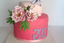 My sugar flower cakes
