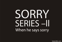 SORRY SERIES - II @ beeandblu.com: When he says SORRY / BEE & BLU (beeandblu.com): Indian Fashion & Lifestyle Blog shares tips on how to react when your boyfriend says Sorry. Visit for fashion tips, beauty tips, relationship tips, etc.