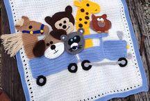 Animal baby blanket