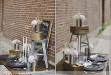 Industrial chic Wedding flowers and decor