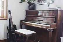 Upright Piano Decor