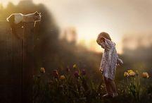 Elena Shumilova Children who love Animals