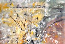 Encaustic Art by Lynne Furrer / All artworks created by Lynne Furrer using encaustic wax. / by Watercolor Bloom, Lynne Furrer Artist
