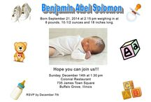 Custom Baby Party Invitations / Announcing a new addition to the family or sending invititaions. .