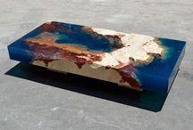 mesas con resinas