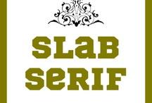 SLAB SERIF FONTS / by Modrie Payne