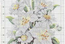 výšivka - kvety